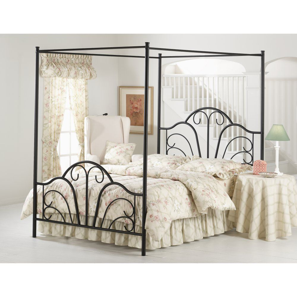 dover canopy bed talk about sleeping in style the dover canopy bed by hillsdale furniture features a transitional design with sweeping scroll details in - Transitional Canopy Decorating