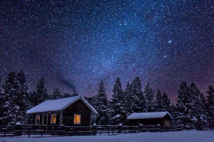 Snowy Night In Montana Earth Pictures Winter Photography Winter Nature