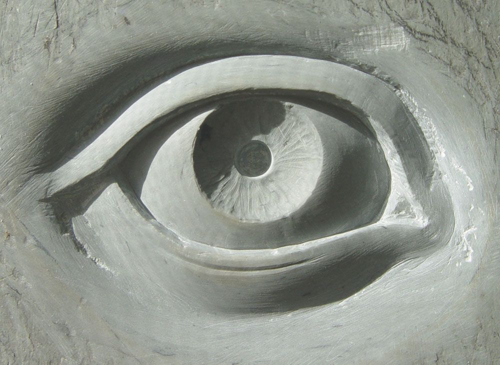 Stone sculpture eye « john thompson art things i like