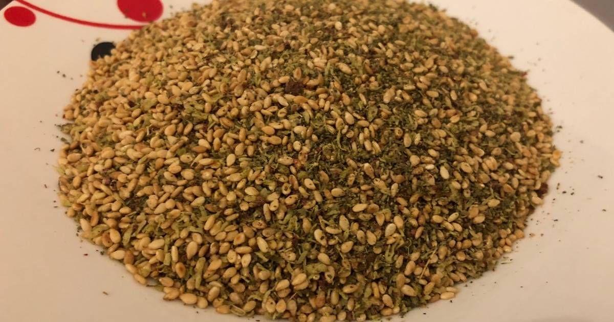 خلطة الزعتر البلدي بالصور من Sirine Haidar Recipe Middle Eastern Dishes Palestinian Food How To Dry Basil