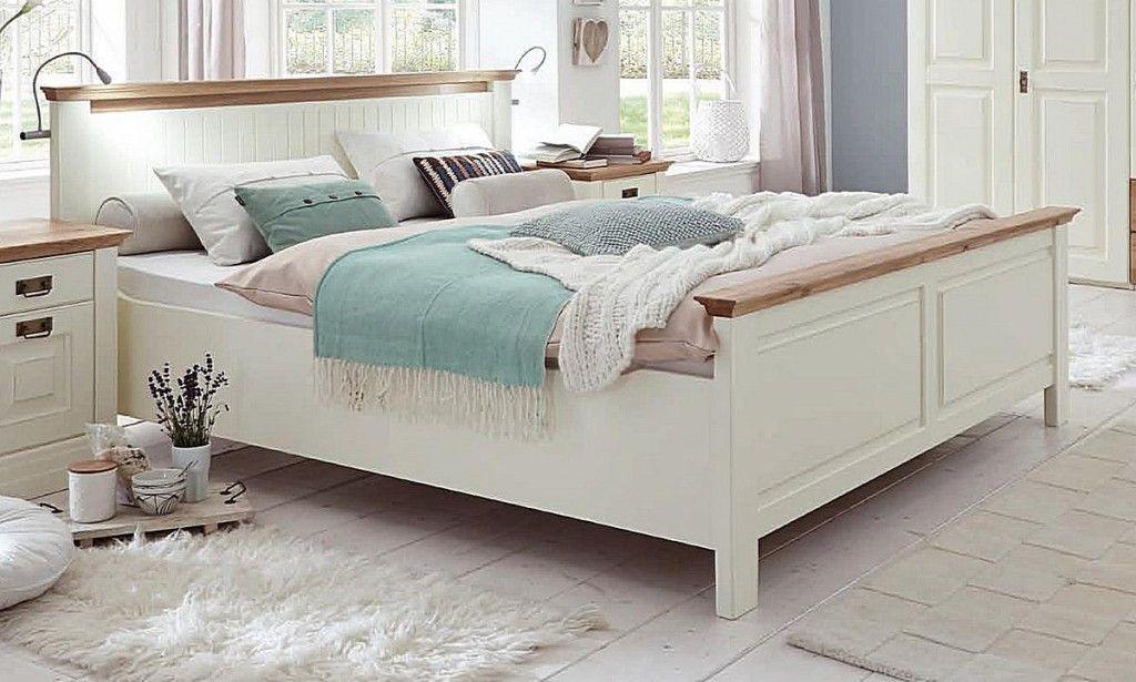 Doppelbett 200 200 New Bett 200 200 Hohes Fussteil Kiefer Massiv