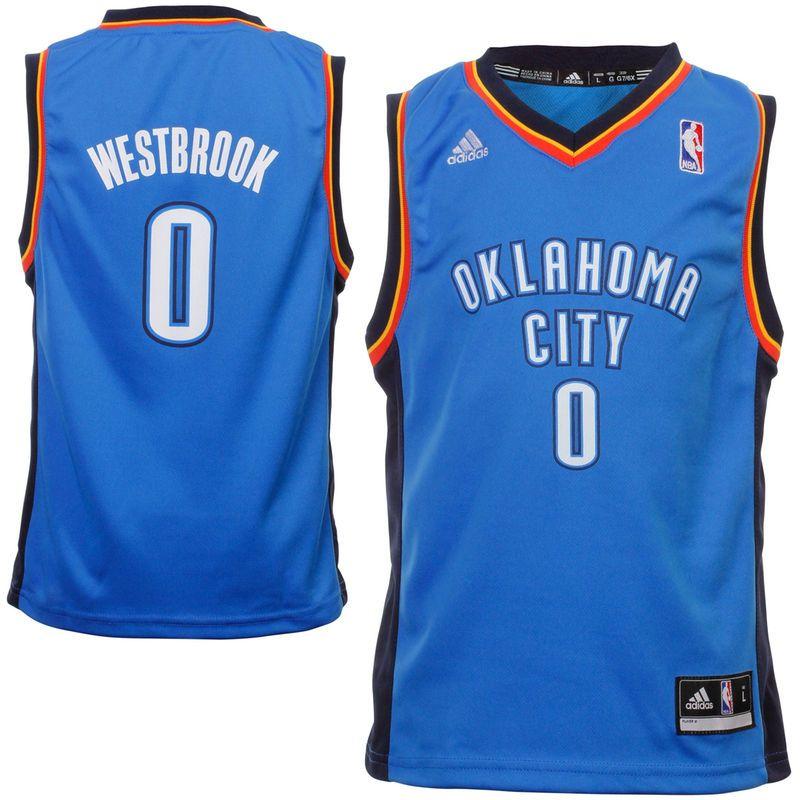dd06a13d8a5a adidas Russell Westbrook Oklahoma City Thunder Preschool Replica Away Jersey  - Light Blue