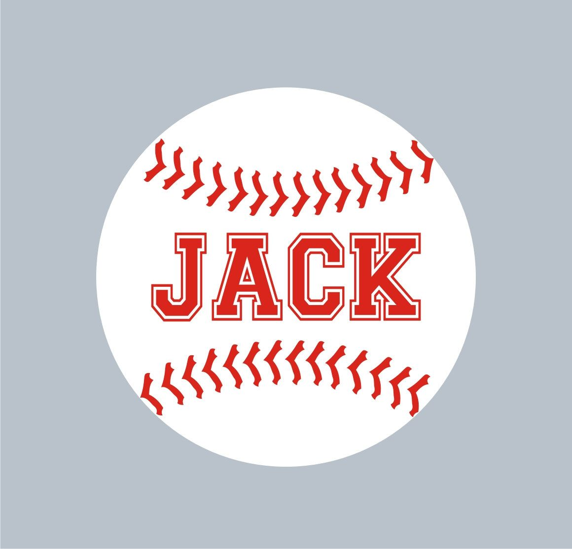 Baseball Personalized Name Custom Vinyl Wall Decals Stickers - Custom vinyl wall decals removable