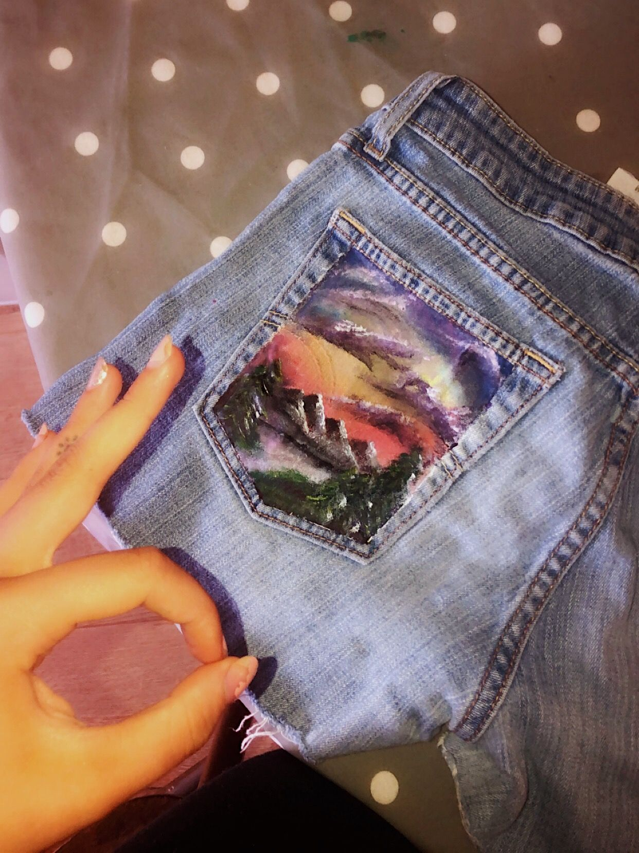 Aesthetic Jeans Painted Largest Wallpaper Portal