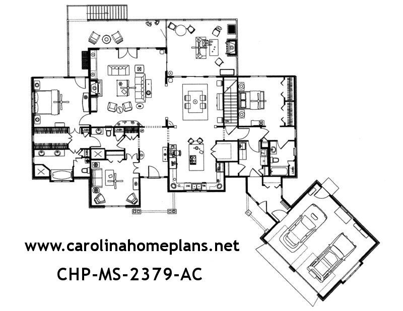 Spacious Open Floor Plan With Split Bedroom Layout This Craftsman