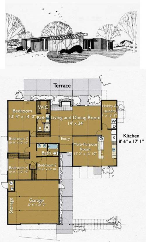 Build An Eichler Ranch House 8 Original Design House Plans Available Today Retro Renovation Eichler House Plans House Plans Modern House Plans