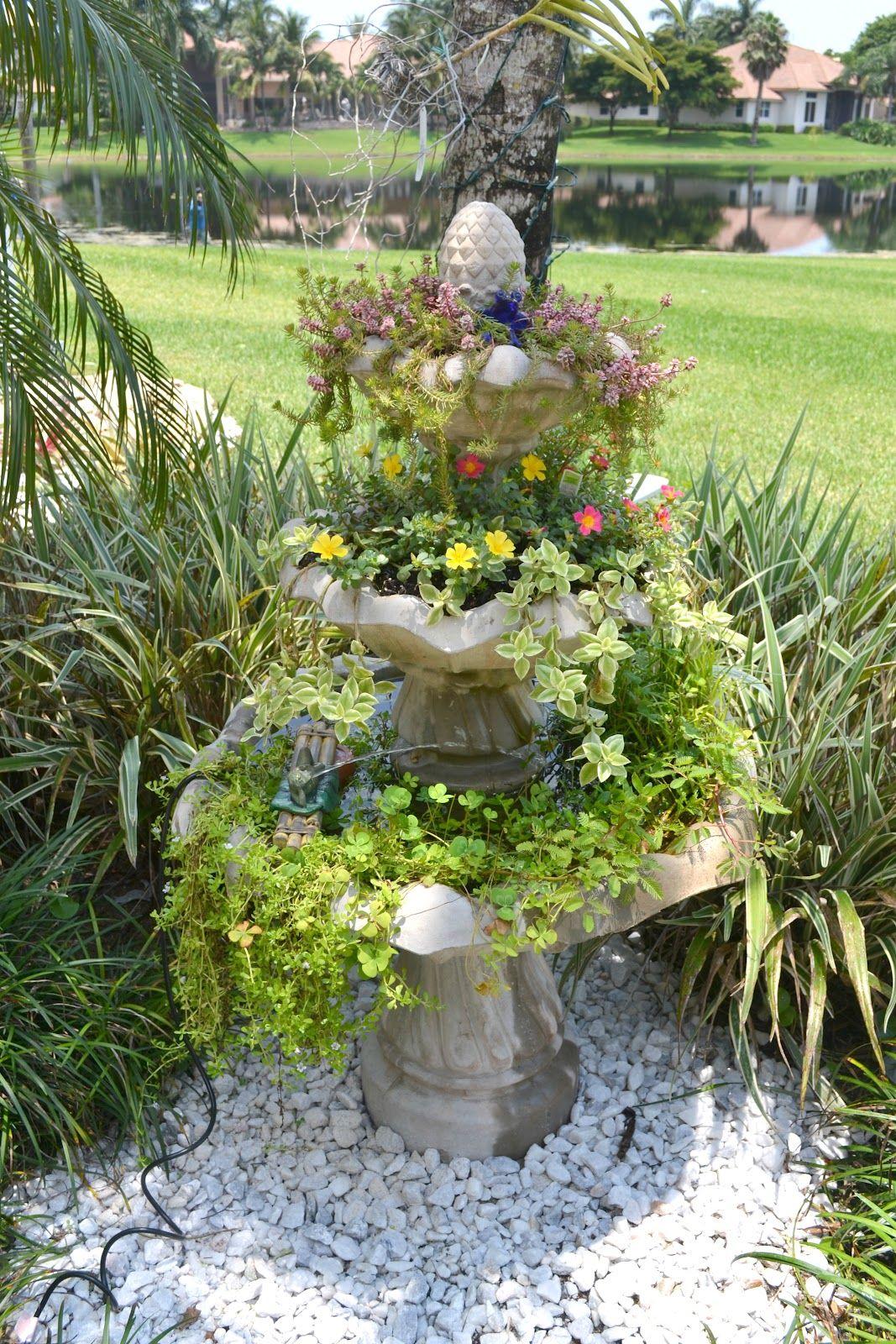 3 Tier Fountain Turned Garden Oasis Garden Oasis Rock Garden Landscaping Garden Fountains
