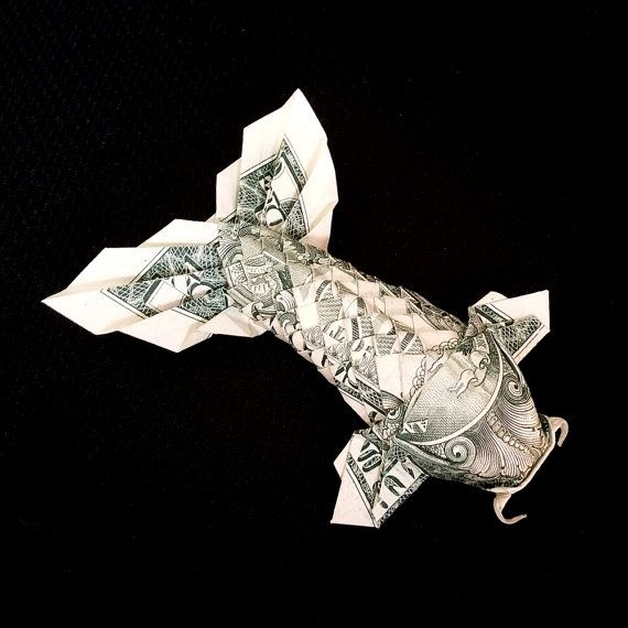 Origami Koi Fish Made With Dollar [PIC] - Give Up Internet! | 570x570