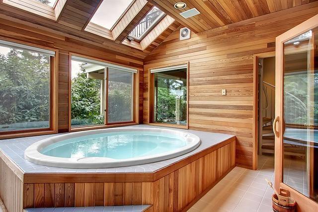 Sauna Steamroom Photo Gallery Hot Tub Room Home Spa Room Indoor Hot Tub