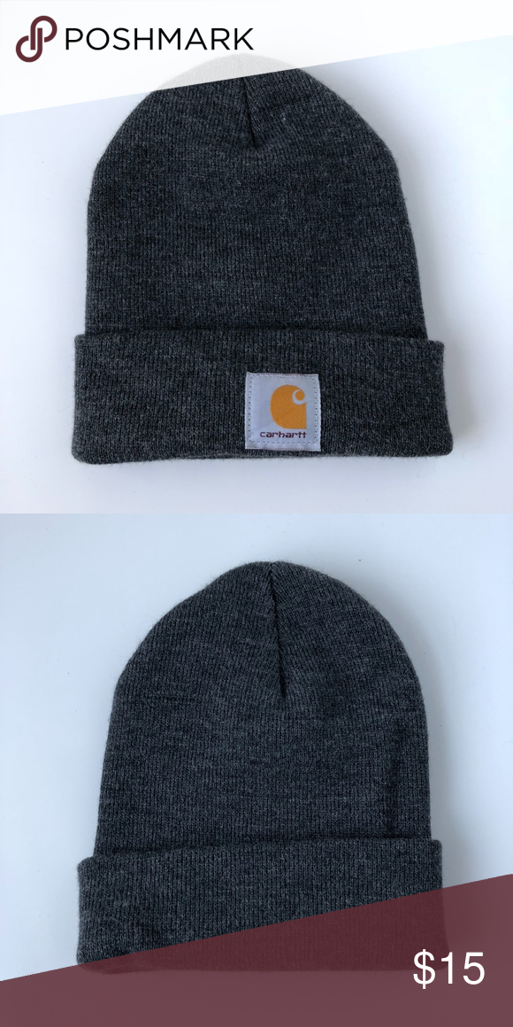 54e7ace2f0a Carhartt Beanie Hat Gray --100% Acrylic --charcoal gray --New without tags Carhartt  Accessories Hats