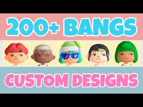 200 Colored Bangs Hairstyle Face Paint Custom Designs In Animal Crossing New Horizons Design Code Youtube In 2020 Animal Crossing Animals Colored Bangs