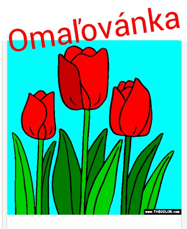 Omaľovánka online http://www.thecolor.com/Coloring/Tulip-coloring-page.aspx