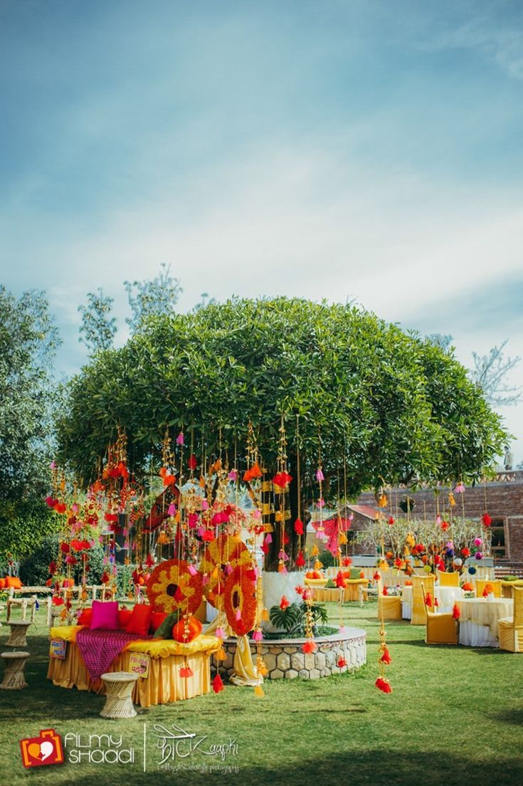 Hindu wedding decoration ideas  Pink u Orange Vibrant Boho Hill Wedding Uttarakhand  Dehradun
