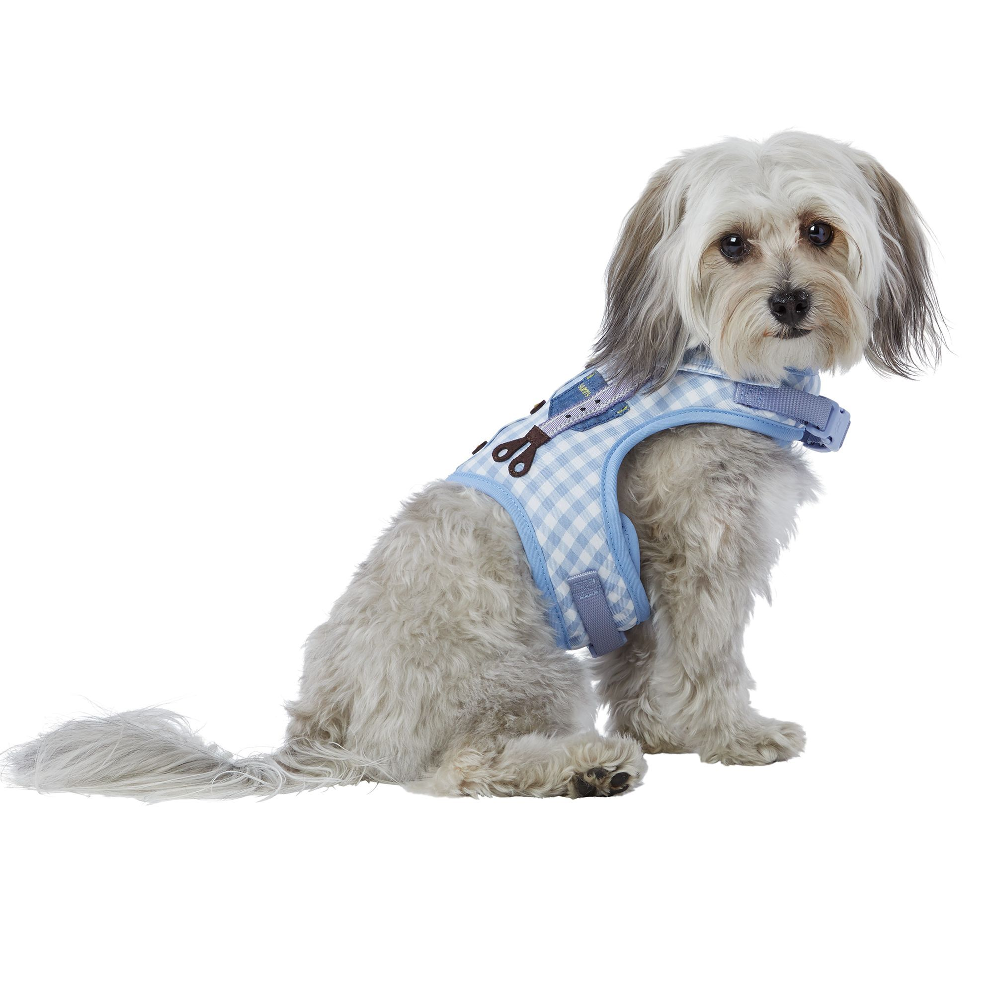 Top Paw Suspenders Puppy Dog Harness Size 2x Small Blue White