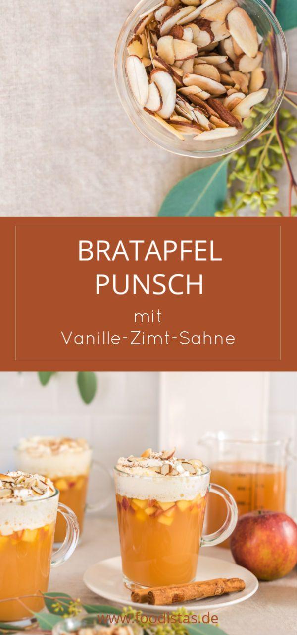 Rezept Für Bratapfelpunsch Mit Vanille8 8 Zimt8 8 Sahne