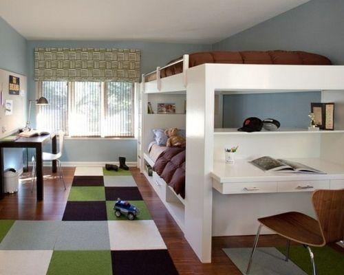 Farbgestaltung Fürs Jugendzimmer U2013 100 Deko  Und Einrichtungsideen    Maskulin Hochbett Farbgestaltung Fürs Jugendzimmer Braun