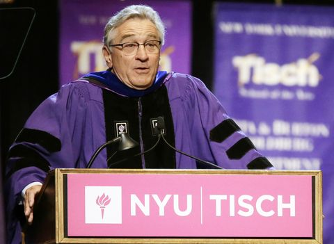 The most inspiring celeb commencement speeches: Robert De Niro.