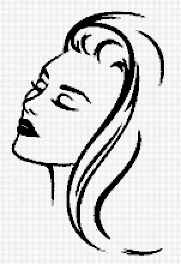 Вышивки черно-белые лица