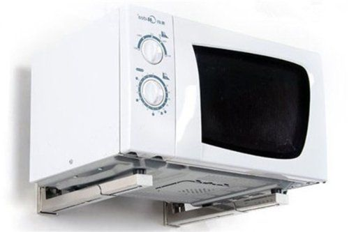 Cmple - NEW Microwave Oven/AV Component Wall Mount Bracket (Max weight 77lbs)-Silver Cmple