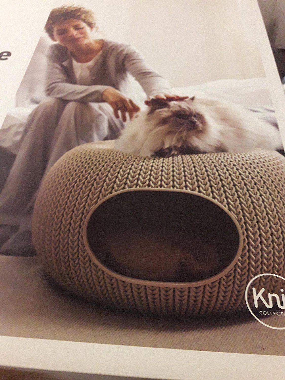 Casa para gatos color arena minimalista y muy decorativa ideal en cualquier rincón de la casa amazon es afiliados productos para mascotas