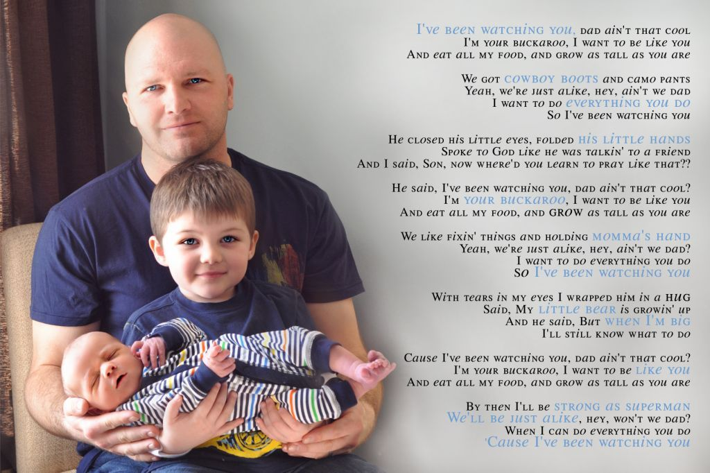 LOVE LOVE this canvas print idea for dad with