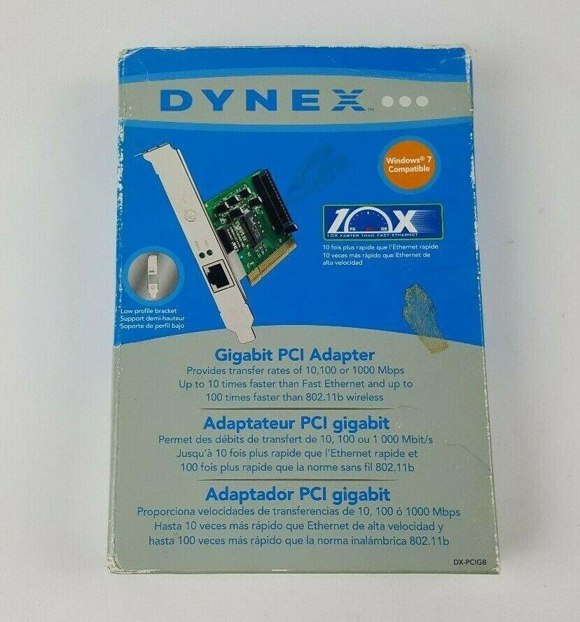 DYNEX GIGABIT PCI ADAPTOR DRIVERS PC