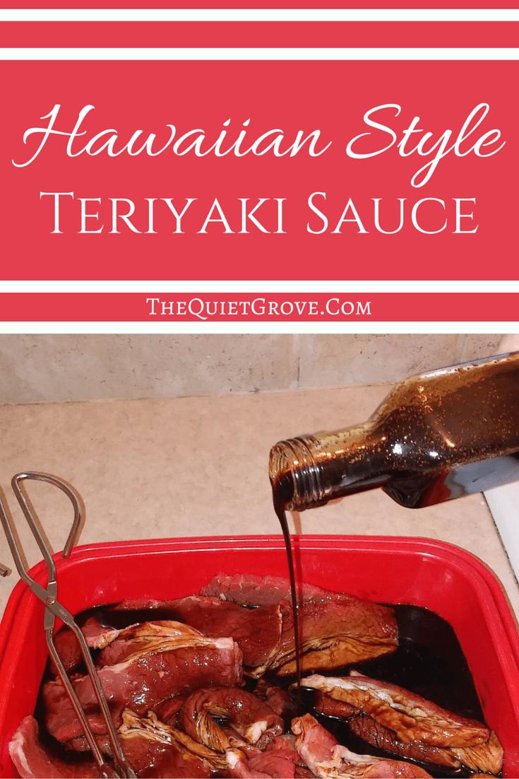Homemade Hawaiian Style Teriyaki Sauce Sauces Hawaiian