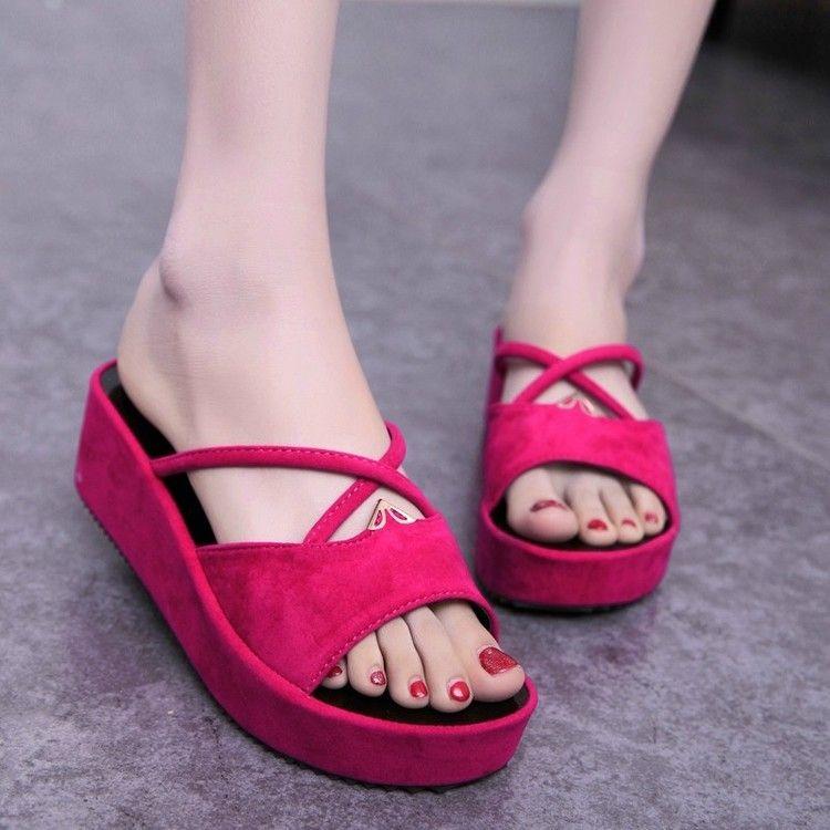 2015 Shoes Woman Sandals Open Toe Platform sandals Ladies