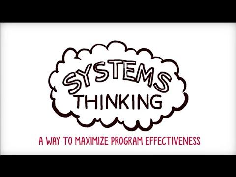 Five minute video briefly explaining systems thinking and