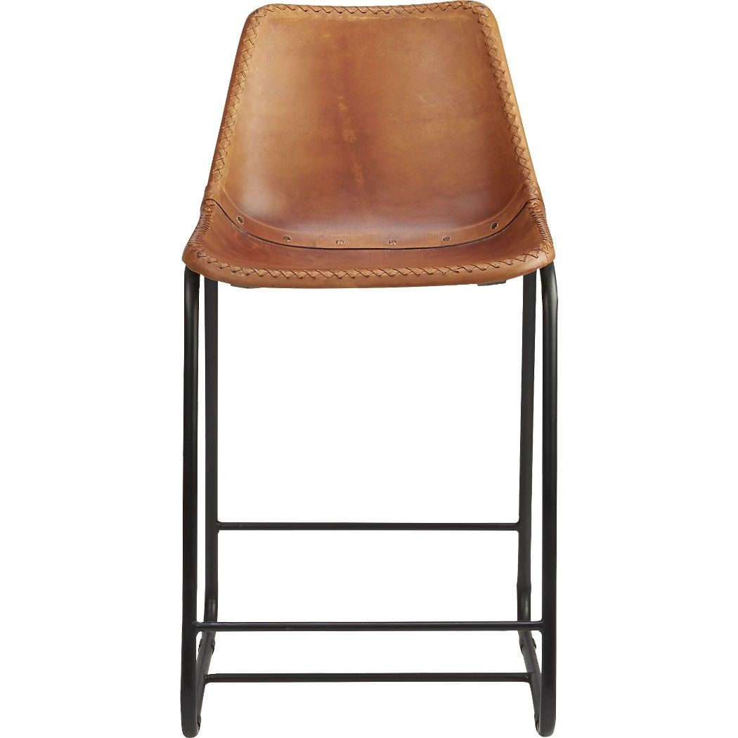 Cb2 Leather Roadhouse Counter Stool 24 Inch 269 Each Avion Park