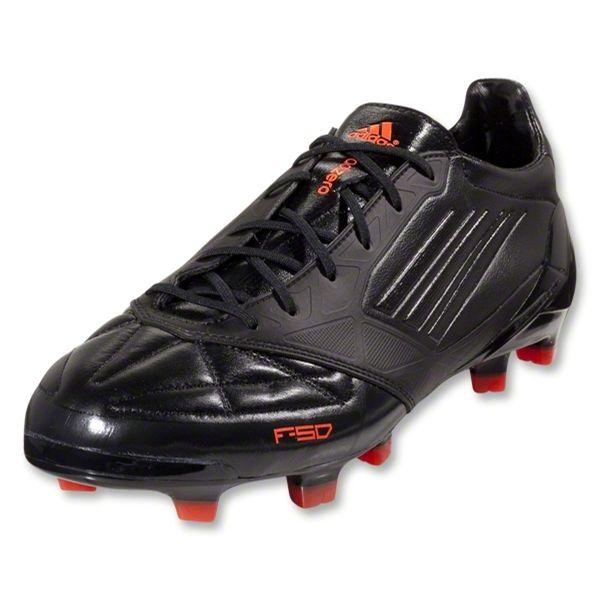 adidas f50 adizero trx fg soccer shoes (leather) g61871 black black