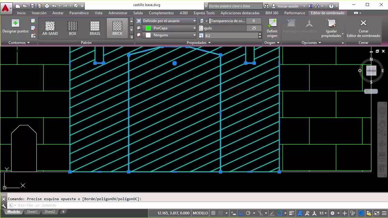 Curso De Autocad 2016 Sombreado Autocad Desktop Screenshot Screenshots