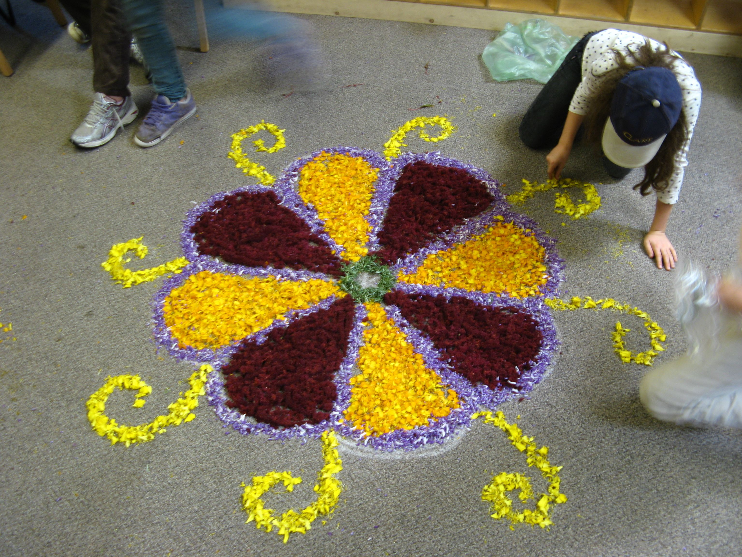mandalakolampurplered Rangoli border designs, Simple