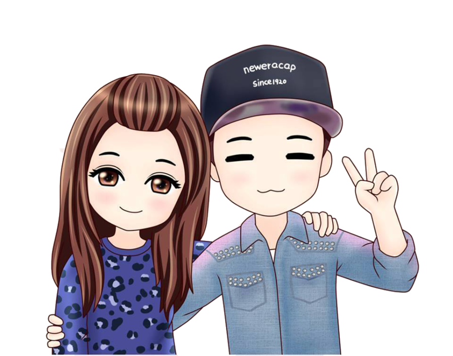 Monday Couple Chibi PNG by MinHoonie on DeviantArt Cute