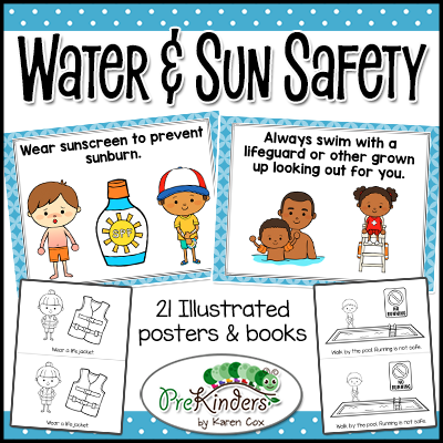 Water & Sun Safety Posters and Books Safety posters