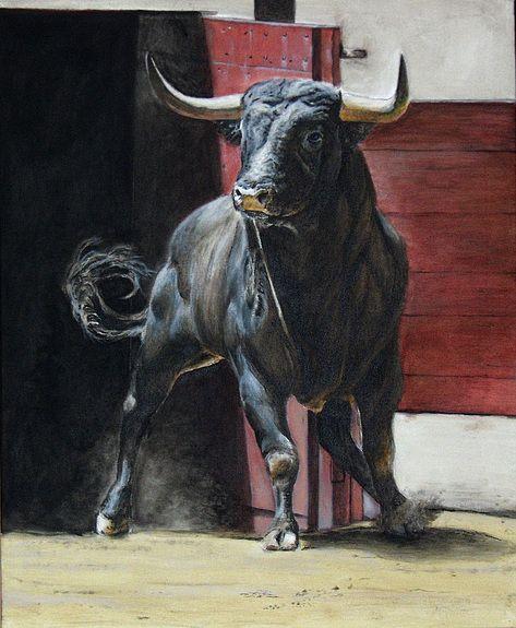 Pingl par artquid sur animal art pinterest vache - Dessin de toro ...