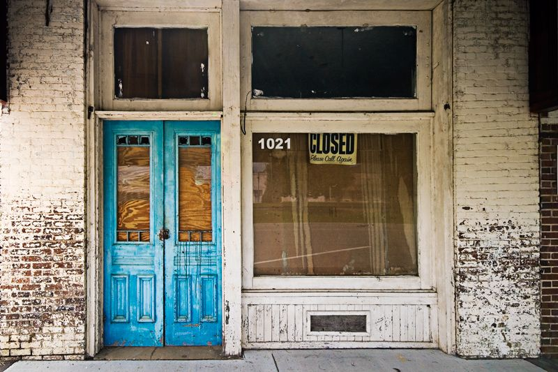Old Store Blue Door; Tim Wheeler 1963 A storefront from \