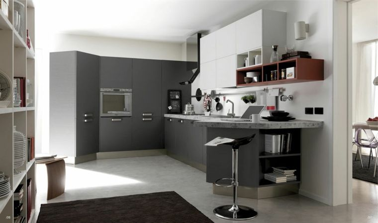 Cocinas blancas y grises - los 50 diseños más actuales - | Cocina ...