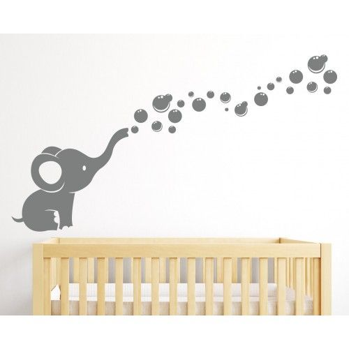 Elephant Bubbles Wall Decal Nursery Decor