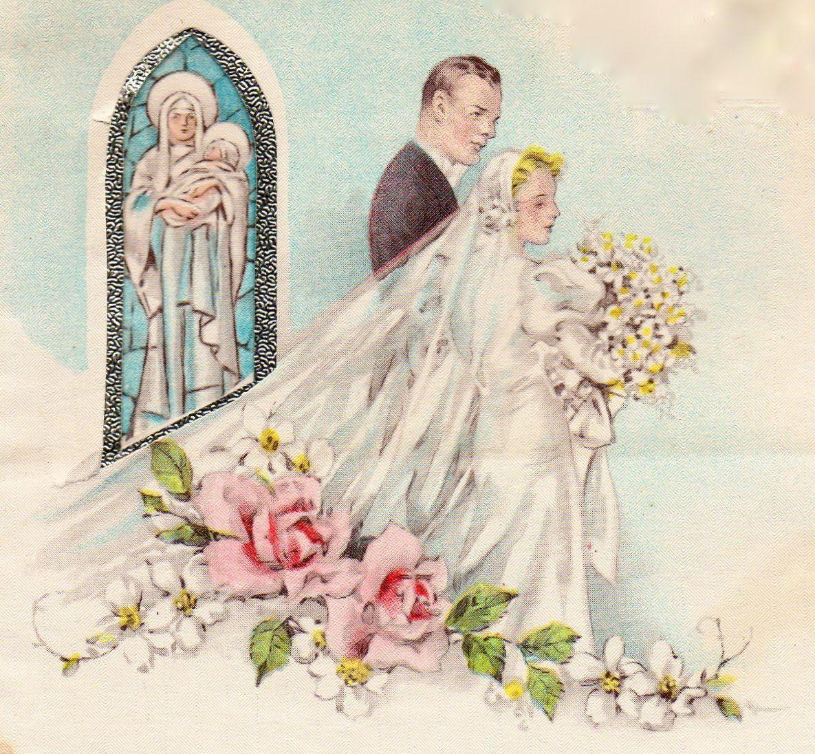 Месяцами внуку, открытка с днем свадьбы винтажная