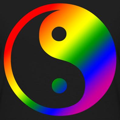 Rainbow Yin Yang Yin Yang Art Yin Yang Ying Yang
