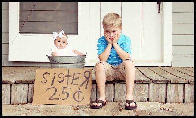 Sibling Photography- hahaha