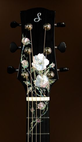 flower rosette~ beautiful! I could pick this guitar all day :)