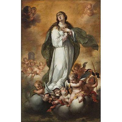 Precio de salida: 25.000€ CORNELIS SCHUT (1629-1685) Inmaculada Concepción Óleo sobre lienzo. 165 x 108 cm. Con etiqueta al dorso.