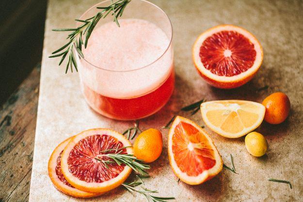 Rosemary No. 3. (blood orange Negroni)