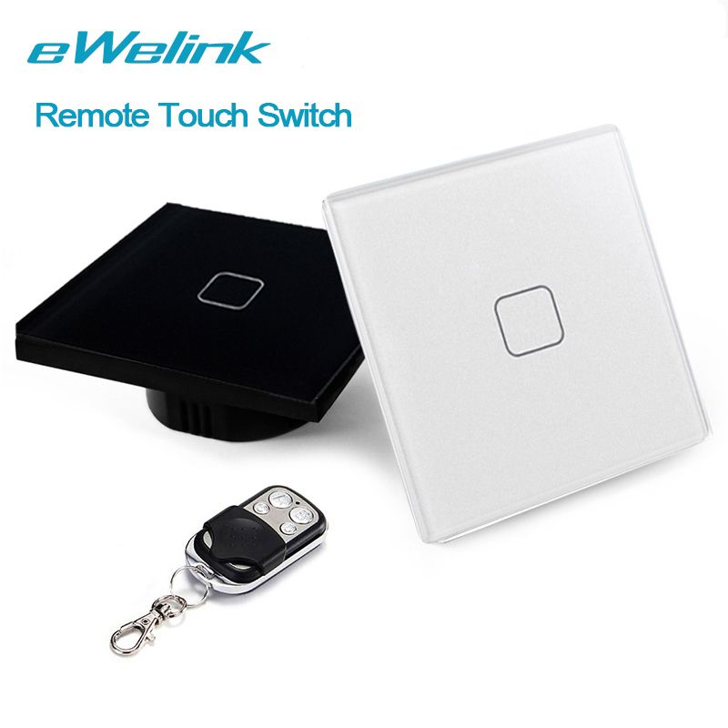 Ewelink euuk wireless remote control light switches 1 gang 1 way ewelink euuk wireless remote control light switches 1 gang 1 way touch switch remote wall switch for smart home mozeypictures Image collections