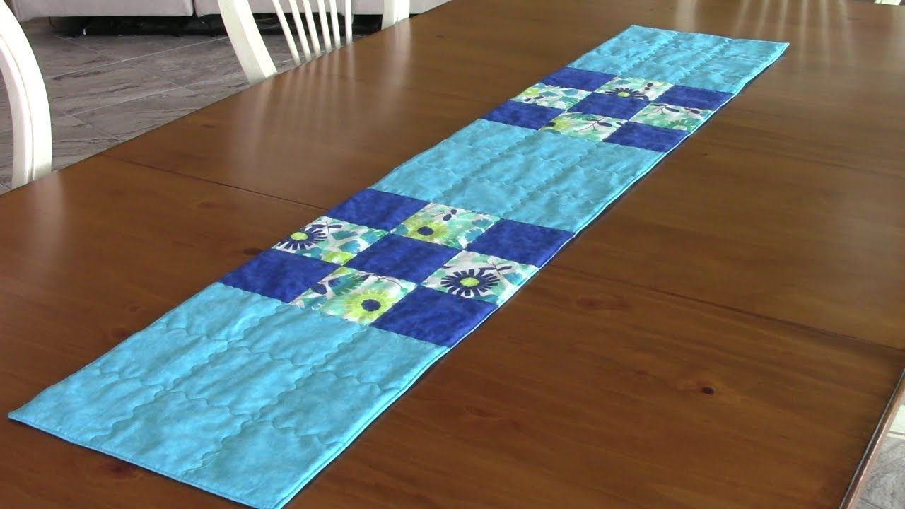 9 patch table runner great project for beginners