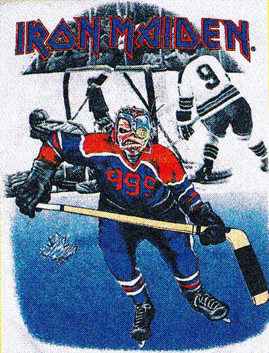 Very 1986 Ice Hockey Eddie Iron Maiden Eddie Iron Maiden Posters Iron Maiden