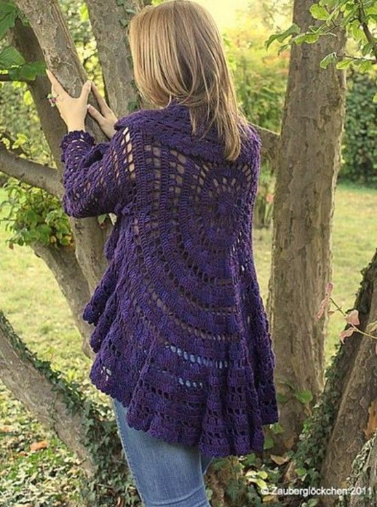 Crochet Circular Jacket Pattern Free Pinterest Best Ideas | Boleros ...