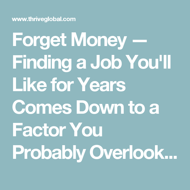 advice for finding a job